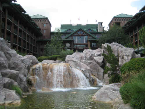 The Wilderness Lodge waterfall