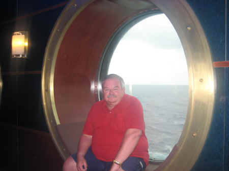 Enjoying a porthole view