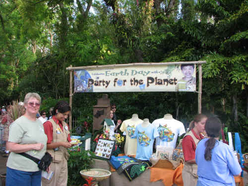 Earth Day activities were scattered around the park