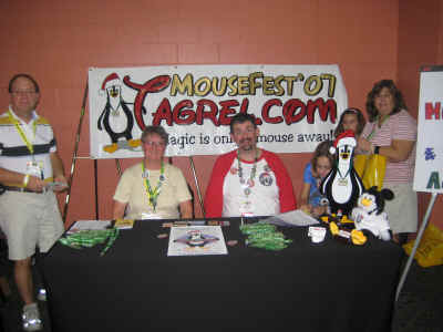 Tagrel table at the Mega Mouse Meet