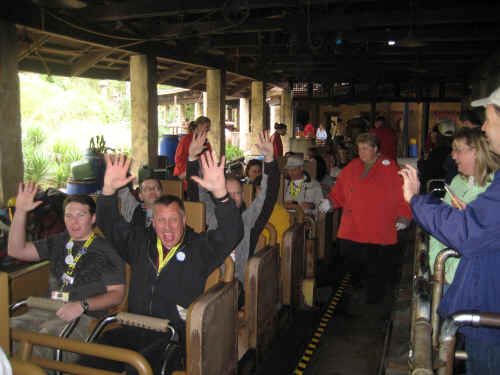 Boarding the Everest ride!