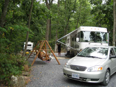 Our campsite at the Gettysburg KOA - we loved the campground!