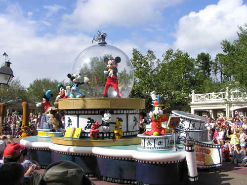 The Mickey Through the Years float - my favourite!