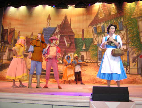 Belle in the Beauty and the Beast Show